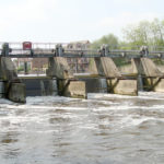 Efficiency at Romney Weir boosted by nine new radial gates